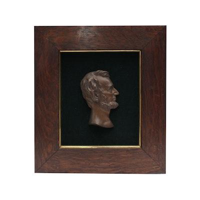 Bronze Silhouette of Abraham Lincoln