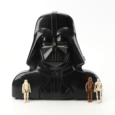 """1980s """"Star Wars"""" Action Figures and Darth Vader Case"""