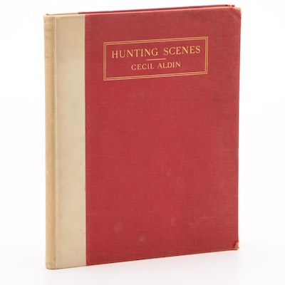 "1936 First Edition ""Hunting Scenes"" Illustrated and Arranged by Cecil Aldin"