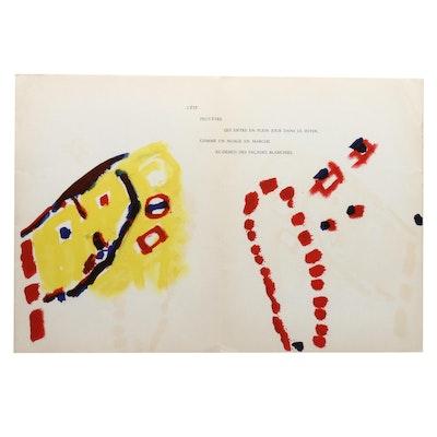"""Pierre Tal-Coat Lithograph for Derriere le Miroir """"Peinture"""""""