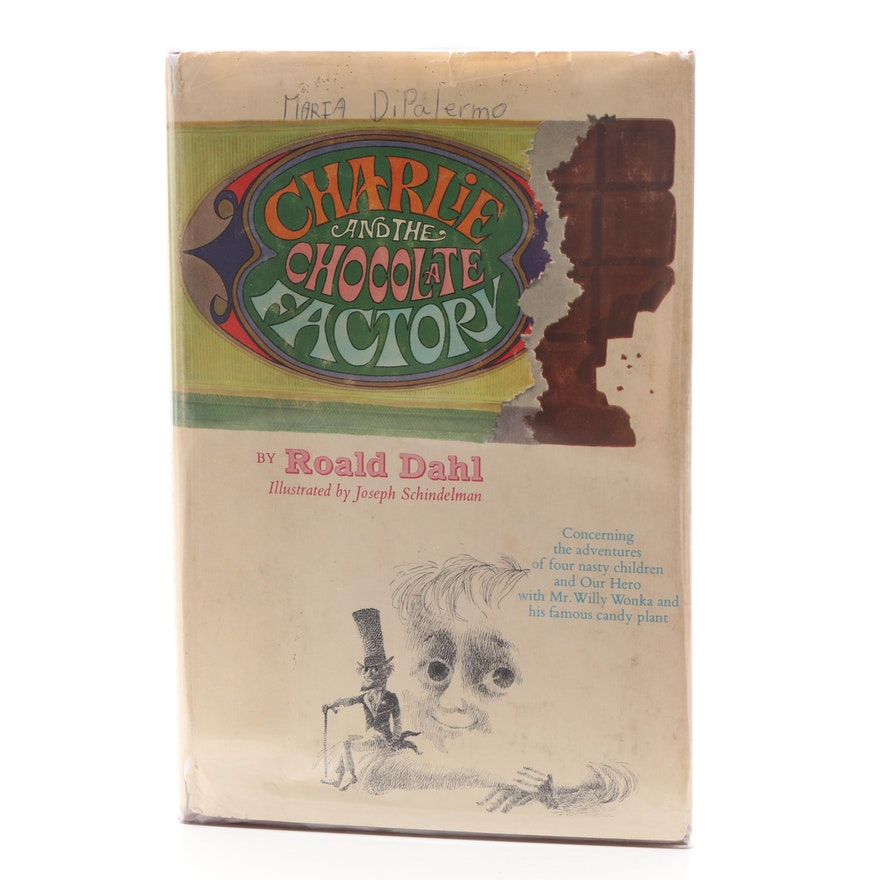 """1964 First Printing """"Charlie and the Chocolate Factory"""" by Roald Dahl"""