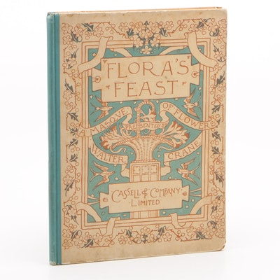 """First Edition """"Flora's Feast: A Masque of Flowers"""" Penned and Pictured by Crane"""