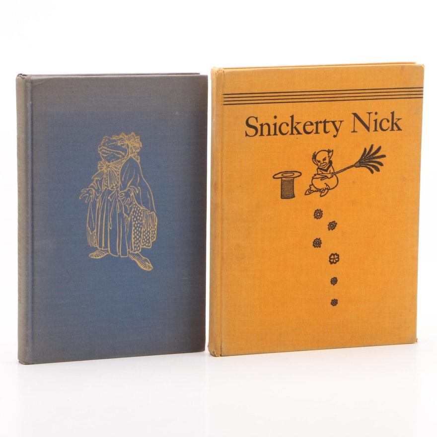 "Arthur Rackham Illustrated ""The Wind in the Willows"" and ""Snickerty Nick"""