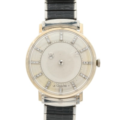 Vacheron V Constantin - Le Coultre 14K Gold and Diamond Mystery Dial Wristwatch