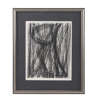 """Hans Hartung Engraving """"Abstract"""""""
