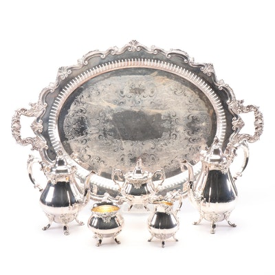 "Wallace Silver Plated ""Baroque"" Tea and Coffee Service"