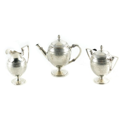 Gorham Sterling Silver Individual Tea Set, 1873