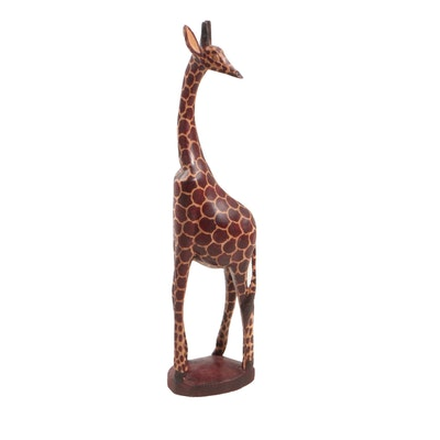 Wooden Giraffe Sculpture from Kenya