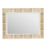 Pottery Barn Teen Wall Mirror with Pinboard and Display Shelves