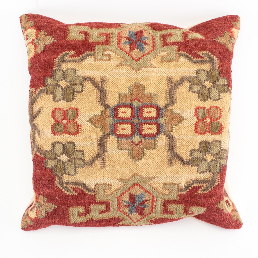 Pottery Barn Kilim Style Faced Throw Pillows Ebth