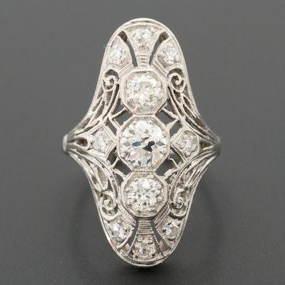 Edwardian Platinum 1.03 CTW Diamond Ring
