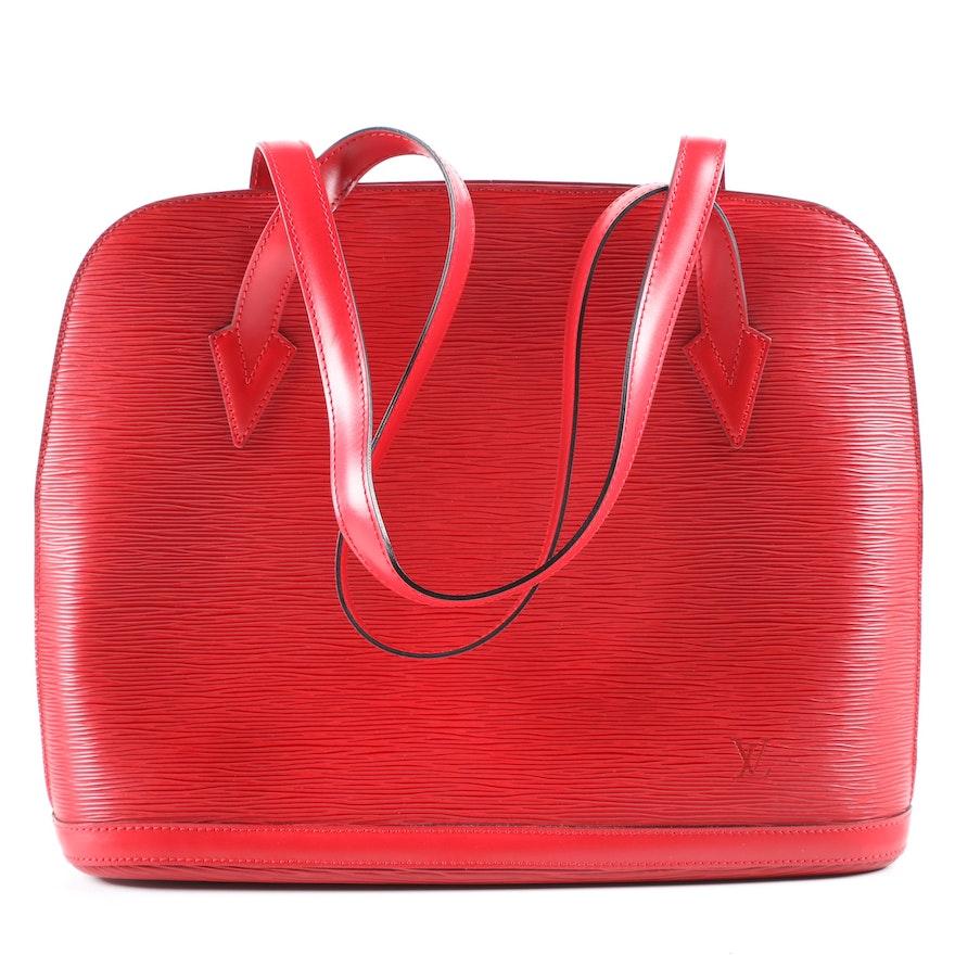Louis Vuitton Paris Lussac Bag in Castilian Red Epi Leather