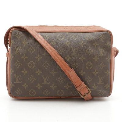 Louis Vuitton Monogram Canvas and Leather Crossbody Bag
