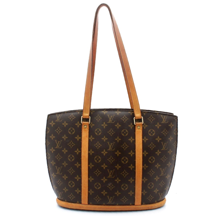 Louis Vuitton Monogram Canvas and Vachetta Leather Babylone Tote Shoulder Bag