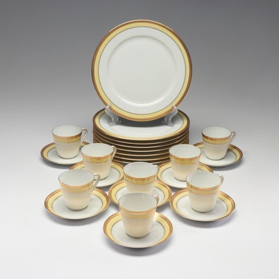 """Lorenz Hutschenreuther """"Hastings"""" Plates and Saucers with """"Noblesse"""" Cups"""
