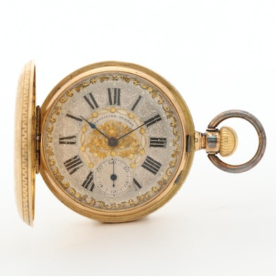 18K Yellow Gold Courvoisier Freres Pocket Watch