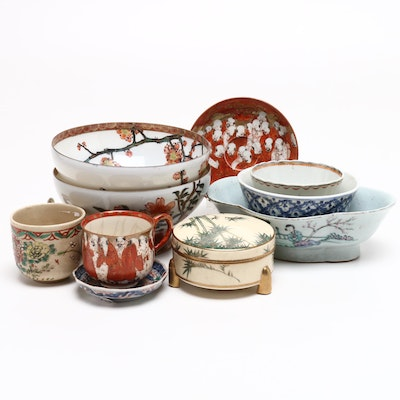 Chinese and Japanese Porcelain Tableware, Late 19th-Mid 20th Century