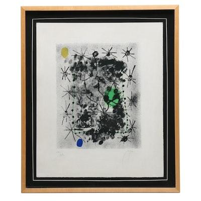 "Joan Miró Limited Edition Lithograph ""Constellations, deuxième lithographie"""