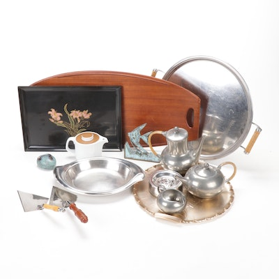 Mid Century Modern Serveware and Decor Collection