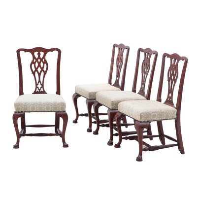 Chippendale Style Mahogany Side Chairs, Late 19th Century