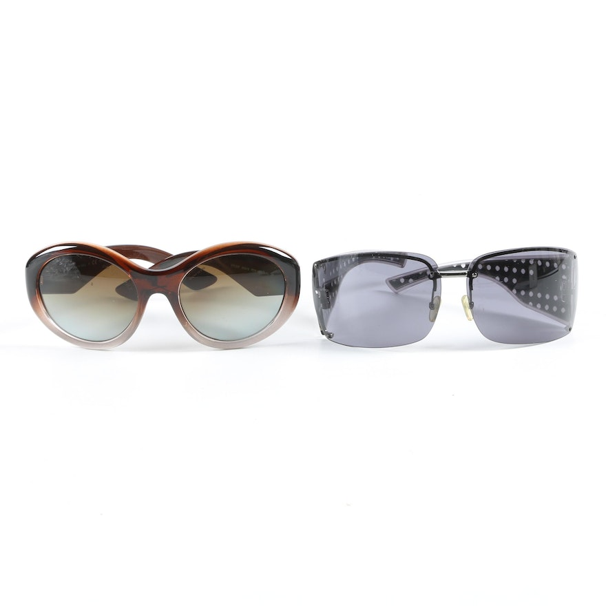 Prada SPR 30P and Christian Dior Quadrille Sunglasses