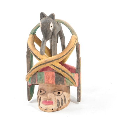 Decorative Wooden Yoruba Galede Style Mask