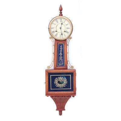 Mahogany Banjo Clock, Mid-20th Century