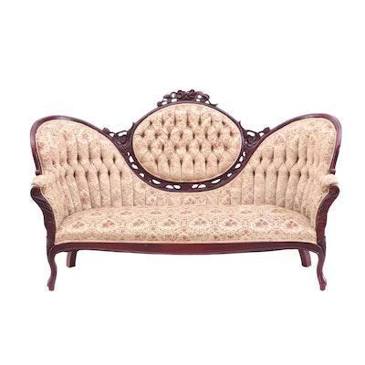 Mahogany Victorian Style Sofa, Mid-20th Century