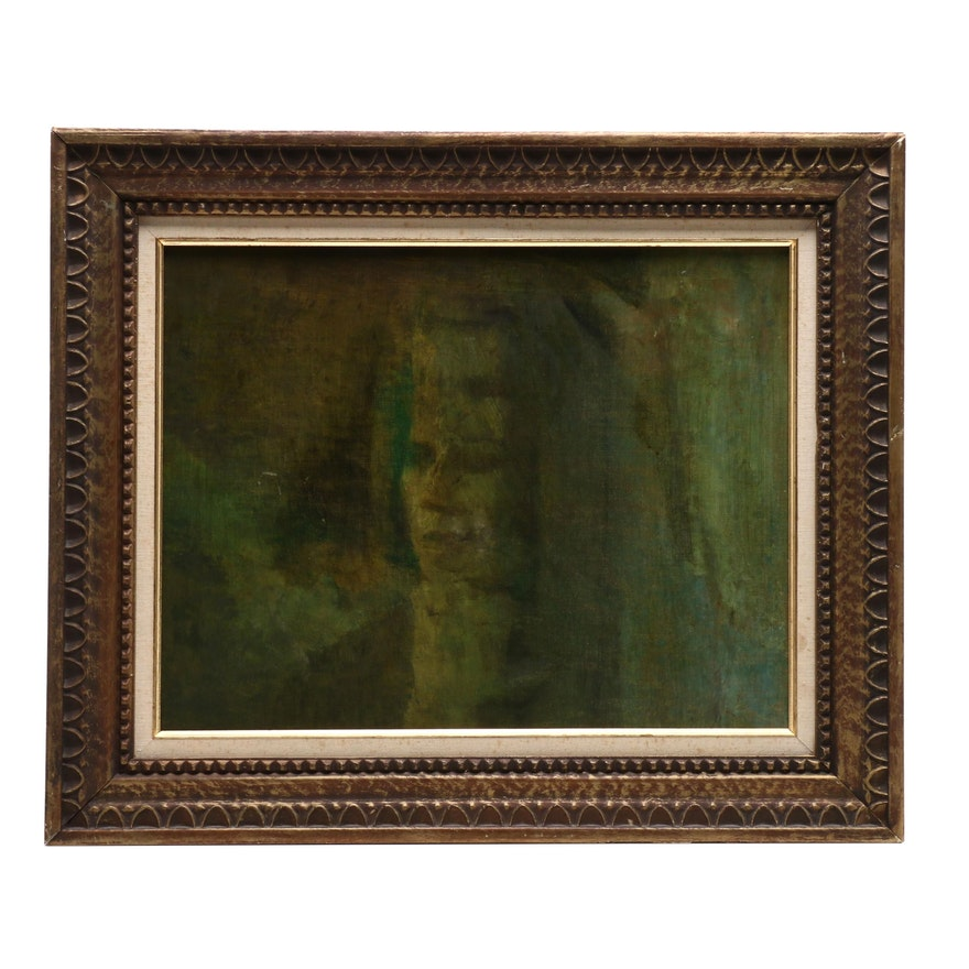 Oil Portrait Painting of Woman