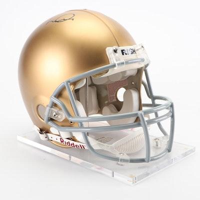 Joe Montana Autographed Norte Dame Replica Helmet on Stand