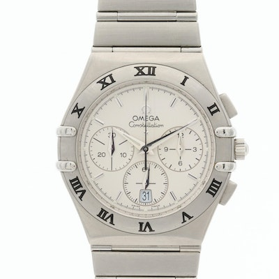 Omega Constellation Stainless Steel Quartz Chronograph Award Wristwatch, 2001