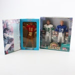Starting Lineup NFL Action Figures including Joe Montana and Johnny Unitas