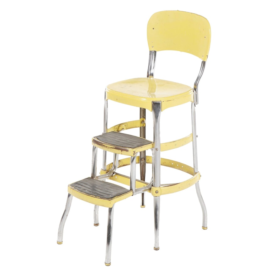 Outstanding Cosco Yellow Metal Step Stool Counter Chair Mid Century Unemploymentrelief Wooden Chair Designs For Living Room Unemploymentrelieforg