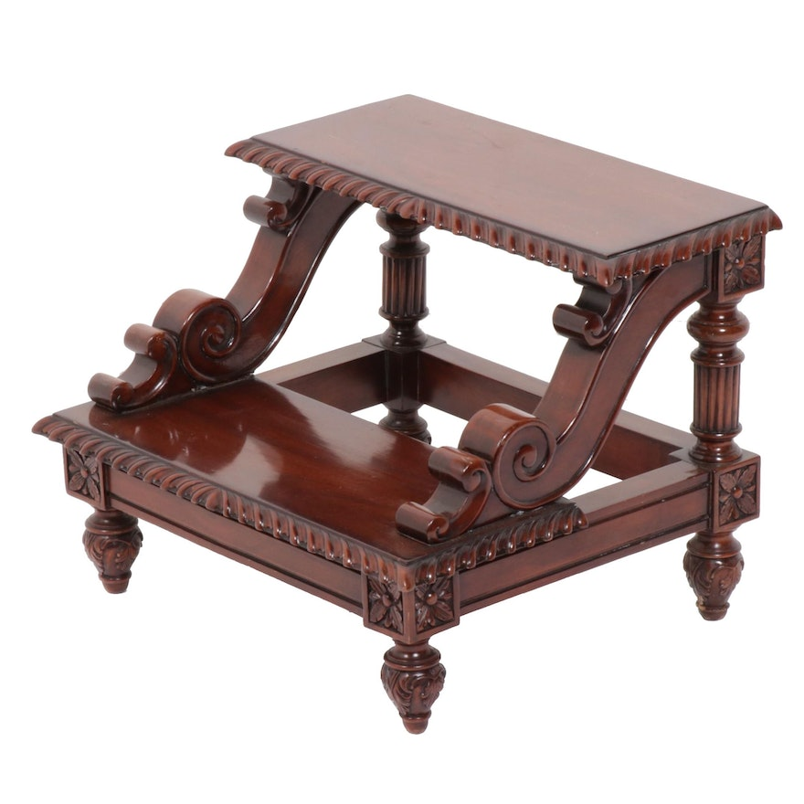 Two-Step Mahogany Stepstool