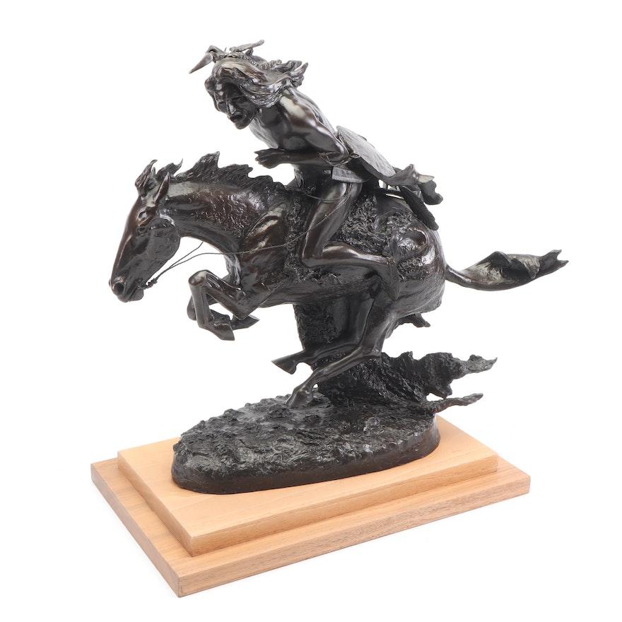 Joseph Di Lorenzo Recast Bronze Sculpture After Frederic Remington