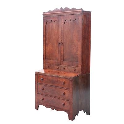 American Classical / Gothic Mahogany Secretary Desk