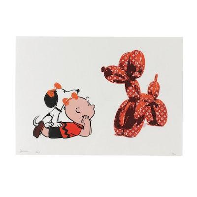 "Death NYC Graphic Print ""Snoop Look Dog Orange"""