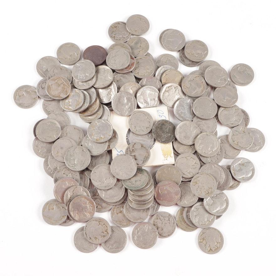 186 Buffalo Nickels