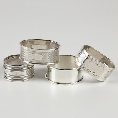 American and English Sterling Silver Napkin Rings