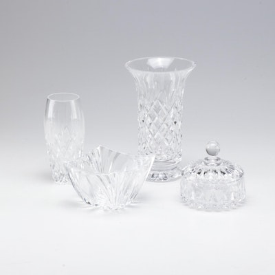 Crystal Vase and Tableware Collection Featuring Waterford and Lenox