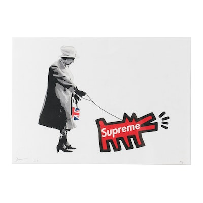 """Death NYC Graphic Print """"Queen Supreme Dog Red"""""""
