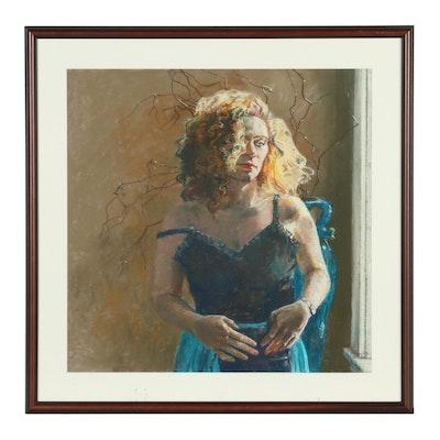Ken Landon Buck Pastel Portrait