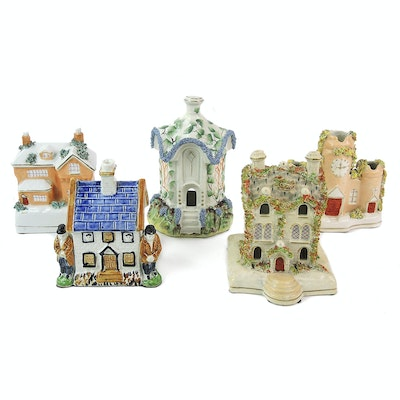 Staffordshire Porcelain Architectural Figurines and More