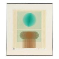 """Nobuteru Shimotakahara Abstract Serigraph """"Time and Space"""""""