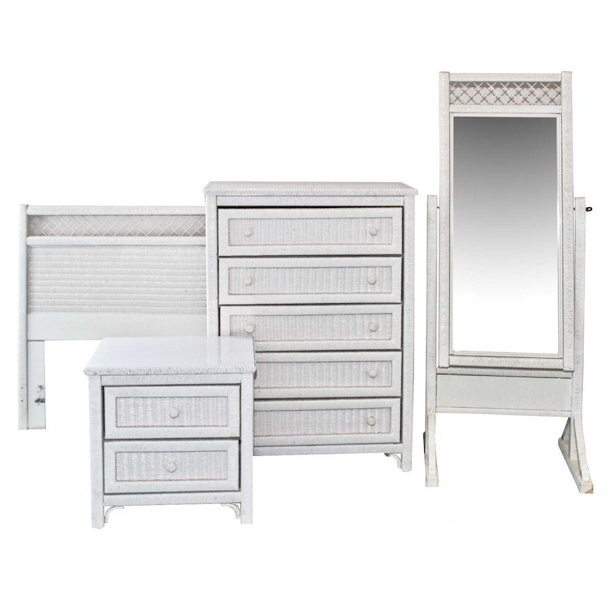Henry Link White Wicker Bedroom Furniture Set