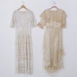 Lawn Dress and Silk Day Dress, Early 20th Century