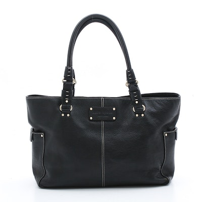 Kate Spade New York Black Pebbled Leather Handbag