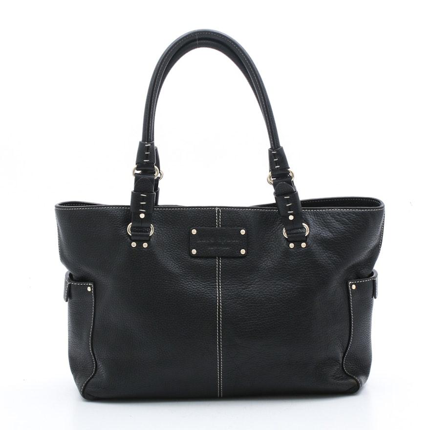 Kate Spade New York Black Pebbled Leather Handbag
