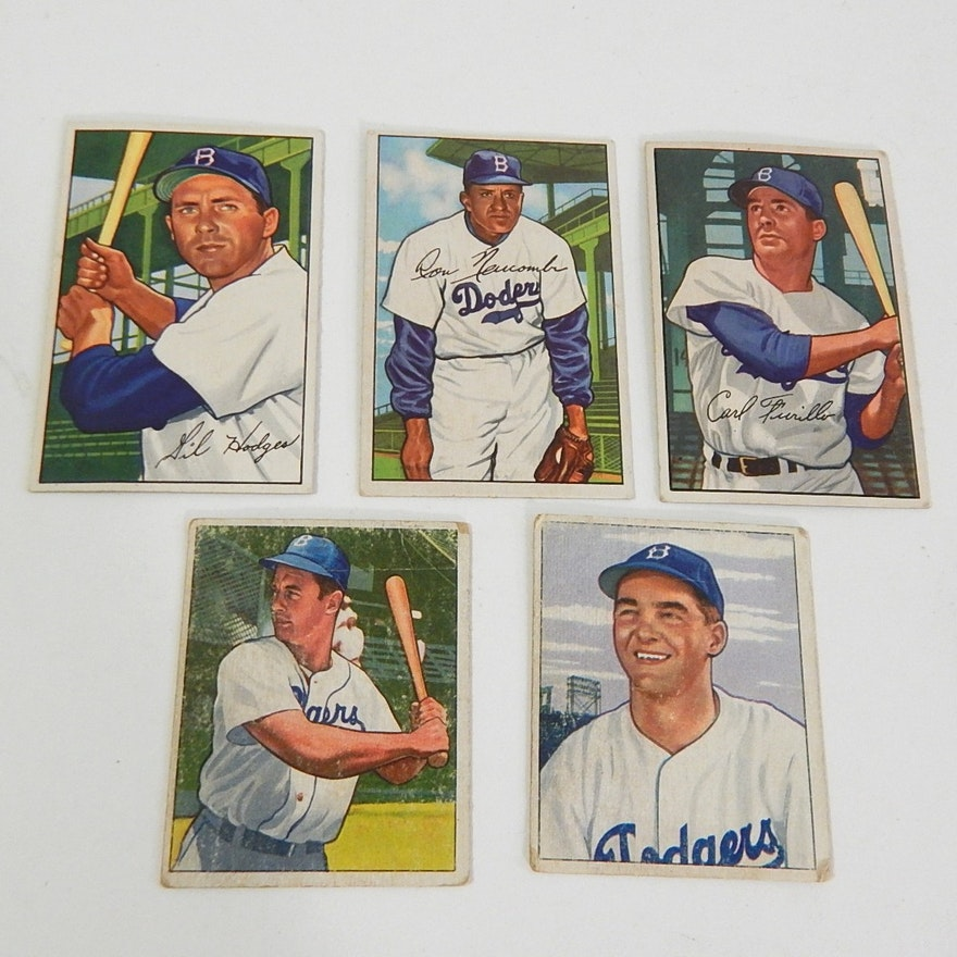 1950s Bowman Baseball Cards With Hodges Newcombe Furillo And More