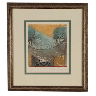 René Carcan Abstract Color Etching